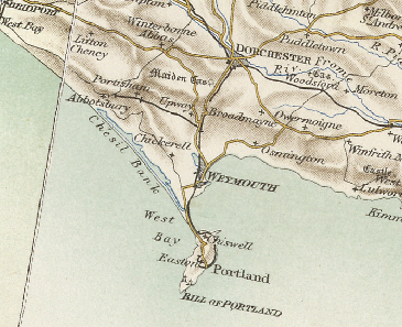 Map Melcombe Regis Dorset