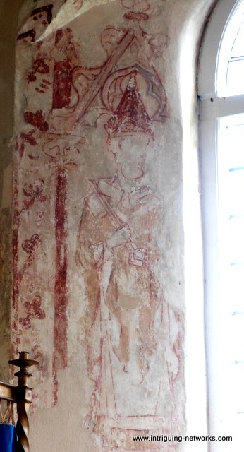 Medieval wall painting of St Peter