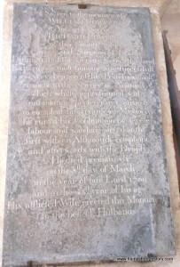 William Cowper Memorial  St Nicholas Church Bishop's Sutton
