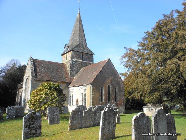 Church close to Bramshott Mills