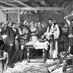 Virginia Dare baptised on Roanoke