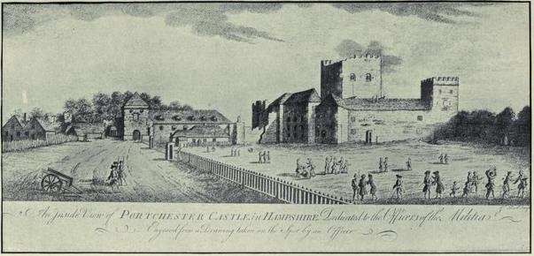 C18th Portchester Castle