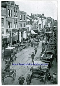 Portsmouth Hampshire an old Photograph from my grandfather's papers when the Horse and Cart was still the main mode of transport.