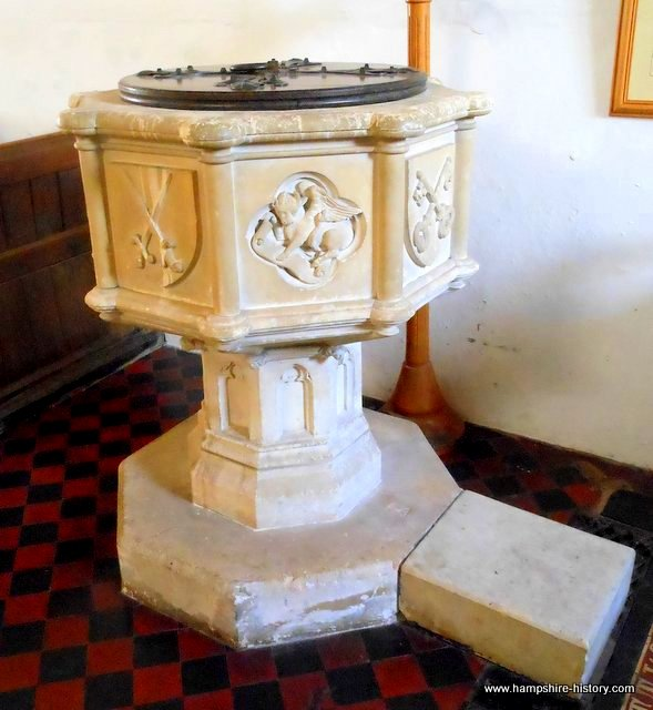 Baptismal font St Peter's church Soberton