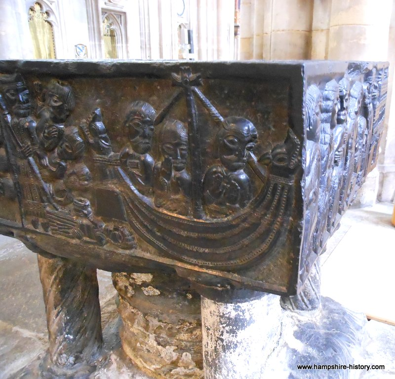 Tournai font Winchester Cathedral