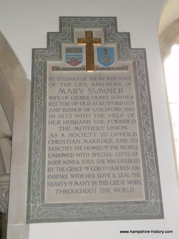 Mary Sumner Memorial St Mary the Virgin Old Alresford