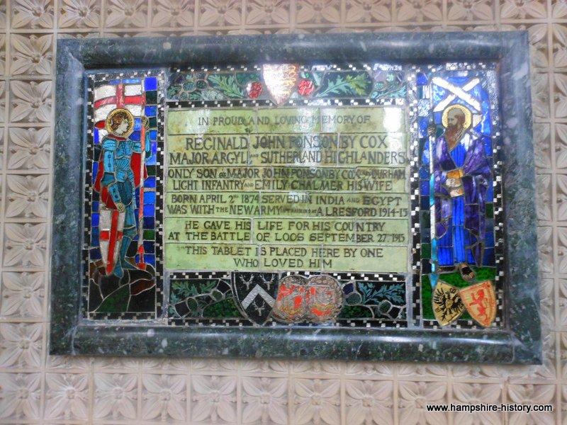 WWI Hampshire memorials