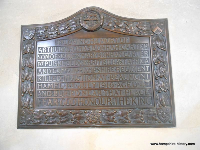 WWI Memorials Hampshire