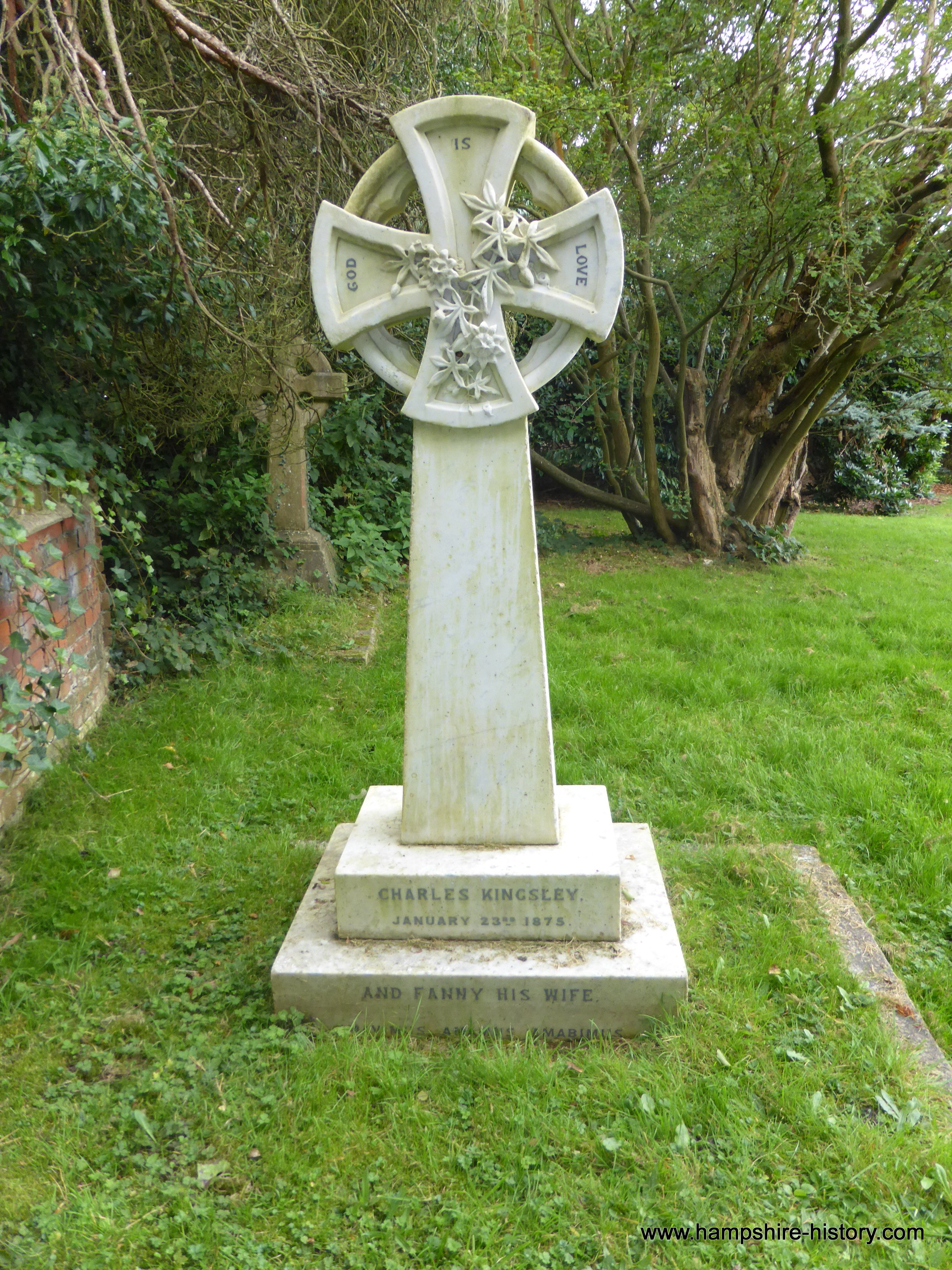 Charles Kingsley's grave Eversley Hampshire